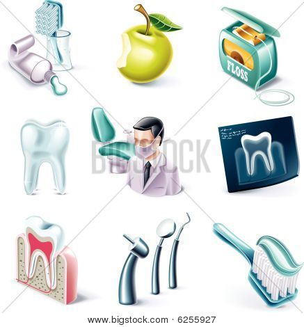 Vector cartoon style icon set. Part 30. Medicine