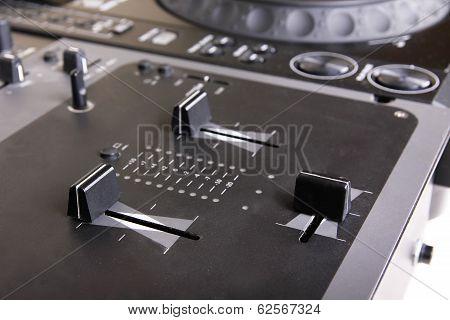 Dj Mixer And Cd Player