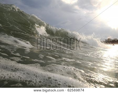 Beautiful Sea Wave. Sunlight. Vietnam.