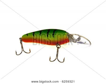 Old Red Fishing Wobbler A Perch