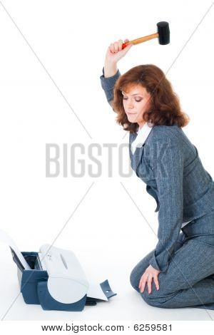 Business Woman Hate Priter