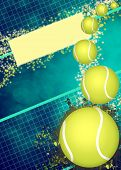 Abstract tennis invitation advert background with empty space poster