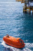 Lifeboat or rescue boat in offshore, Safety standard in offshore oil and gas poster