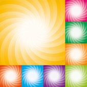 vector set of abstract star burst backgrounds poster