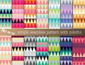 simple seamless pattern with colorful.Used for wallpaper print pattern fabric. Repetitive work tile work poster