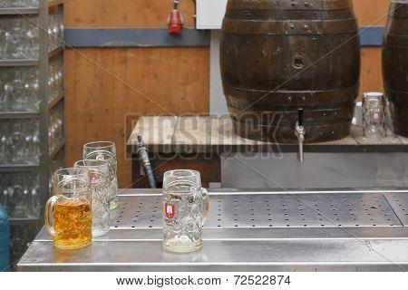 Spaten Beer And Keg