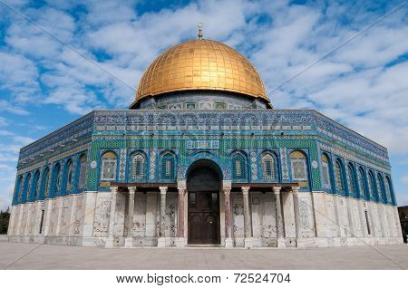 The Dome of the Rock Jerusalem Israel located on the Temple Mount. poster