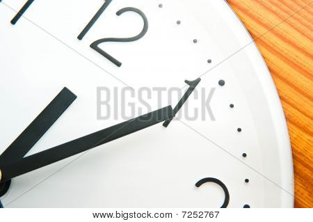 Clock with black hands