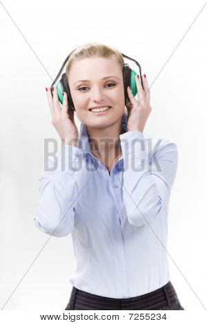 Smiling Girl In Ear-muffs