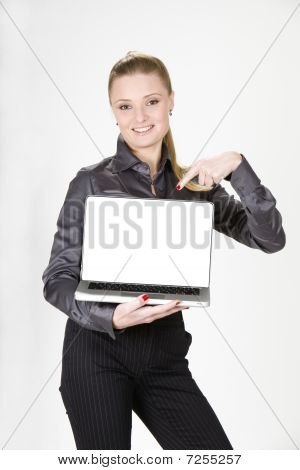 Businesswoman Holding Notebook