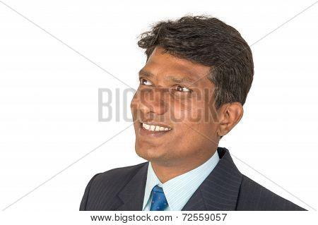 Optimistic Indian Man