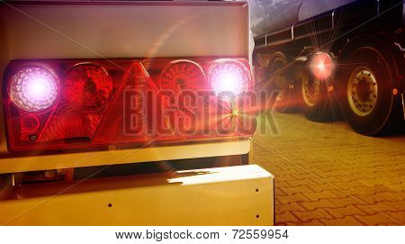 Tail Lights Of Truck