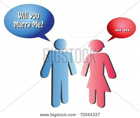 Marriage Proposal Conceptual Vector Illustration