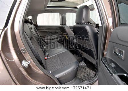 car interior, rear seat
