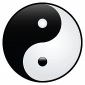Black and white. Yin and Yang. Vector EPS. poster