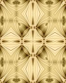 abstract fractal image of a golden filigree cross poster