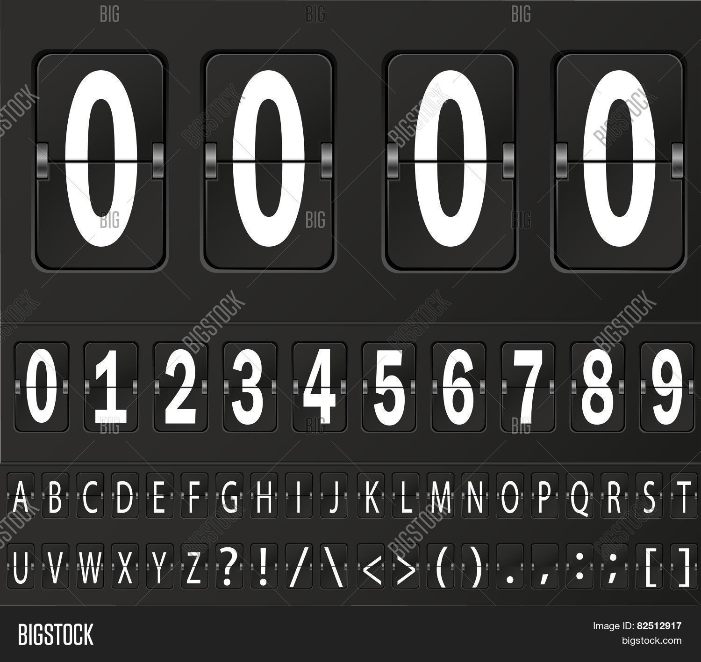 Table Flap Clock Vector & Photo (Free Trial) | Bigstock