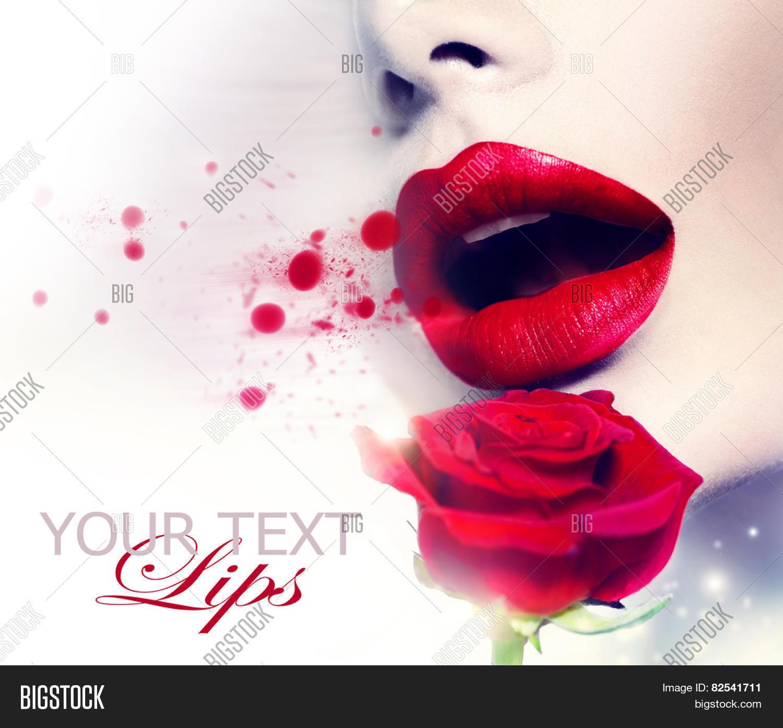 Beautiful Red Lips Image Photo Free Trial Bigstock