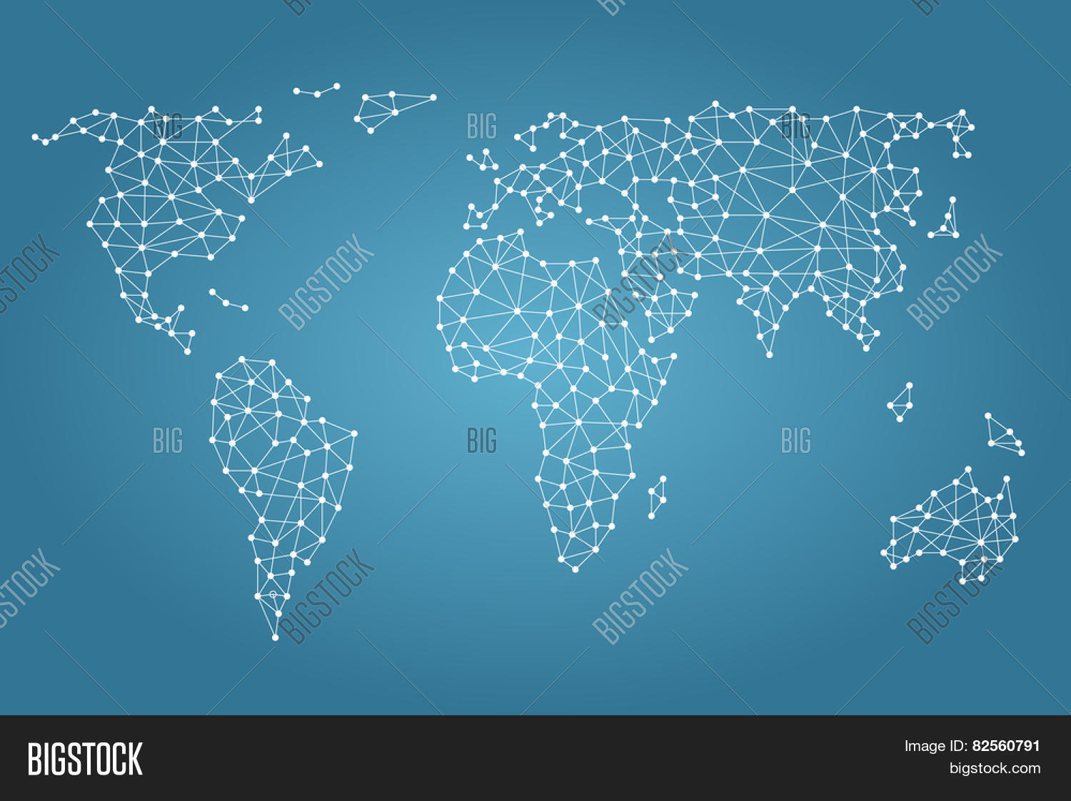 Vector y foto social media prueba gratis bigstock social media network world map with nodes linked by lines gumiabroncs Image collections