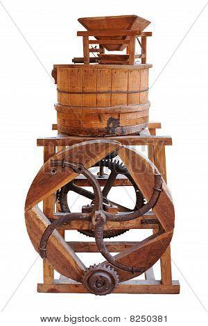 Old wooden machine