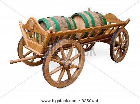 Barrels on cart
