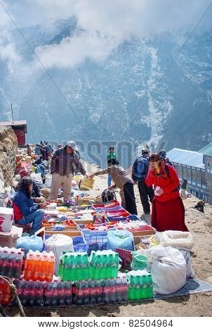 Traditional Saturday market  in  Namche Bazar, Nepal