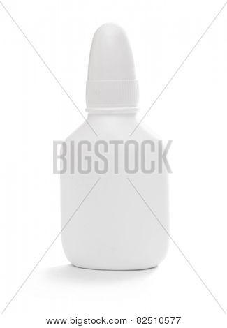 white tube isolated on white background