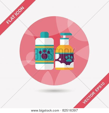 Pet Shampoo Flat Icon With Long Shadow,eps10, Design elements for mobile and web applications, stylish colors of vector illustration. poster