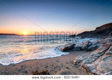 Newquay Beach Sunset