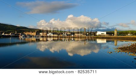 View of Campbeltown, Argyll, Scotland early in the morning poster