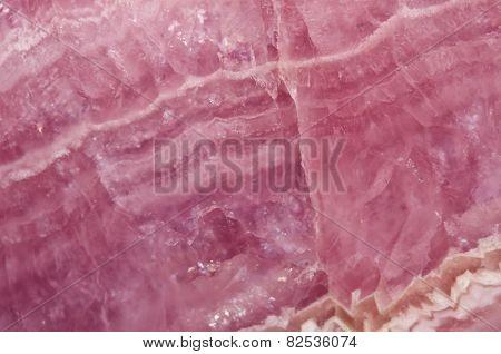 Pink Manganese Carbonate Mineral. Macro