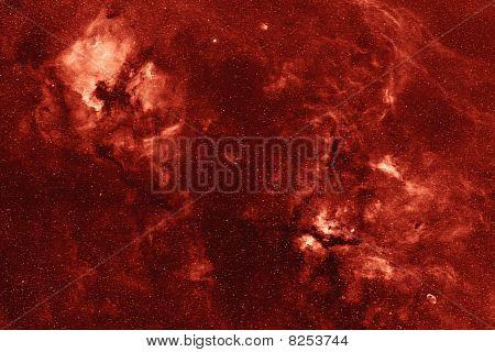 Nebular complex in Cygnus constellation