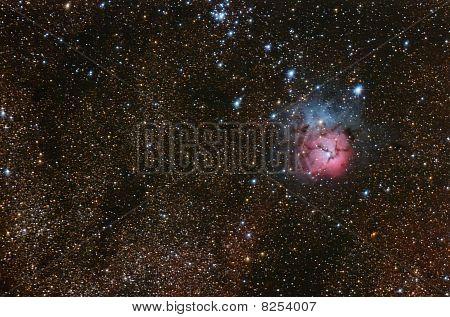 Trifid Nebulae Complex.