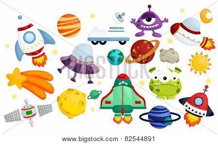 Space  Vector Set - No Background