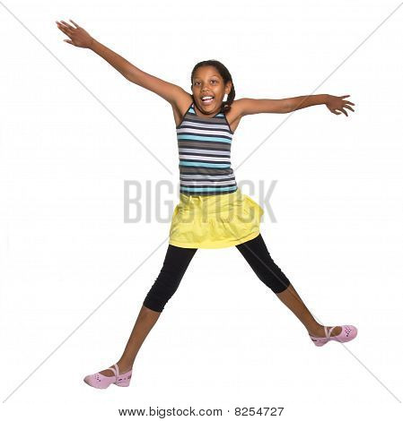 Young Girl Leaping