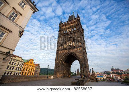 Old Town Tower Of Charles Bridge Prague