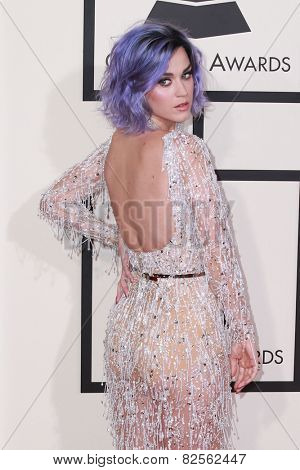 LOS ANGELES - FEB 8:  Katy Perry at the 57th Annual GRAMMY Awards Arrivals at a Staples Center on February 8, 2015 in Los Angeles, CA