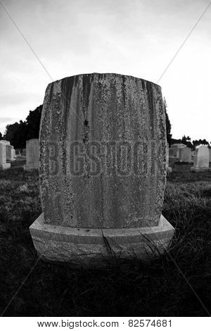Blank Grave Stones shot through a Fish Eye lens for a unique effect not often seen in grave yards. Grave Stones are used to mark a persons name, dates of Birth and Death and perhaps their last words.