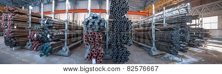 warehouse tubing. Oil and gas industry