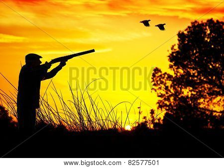 hunter in the field