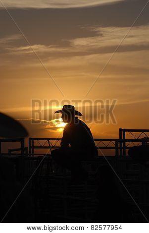 Cowboy Sunset