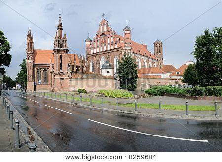St. Anne's Church And Bernardine Monastery Panorama
