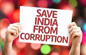 Save India From Corruption card with bokeh background poster