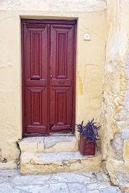 Door Of An Old Greek House.