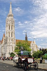 Matthias Church In Budapest, Hungary.