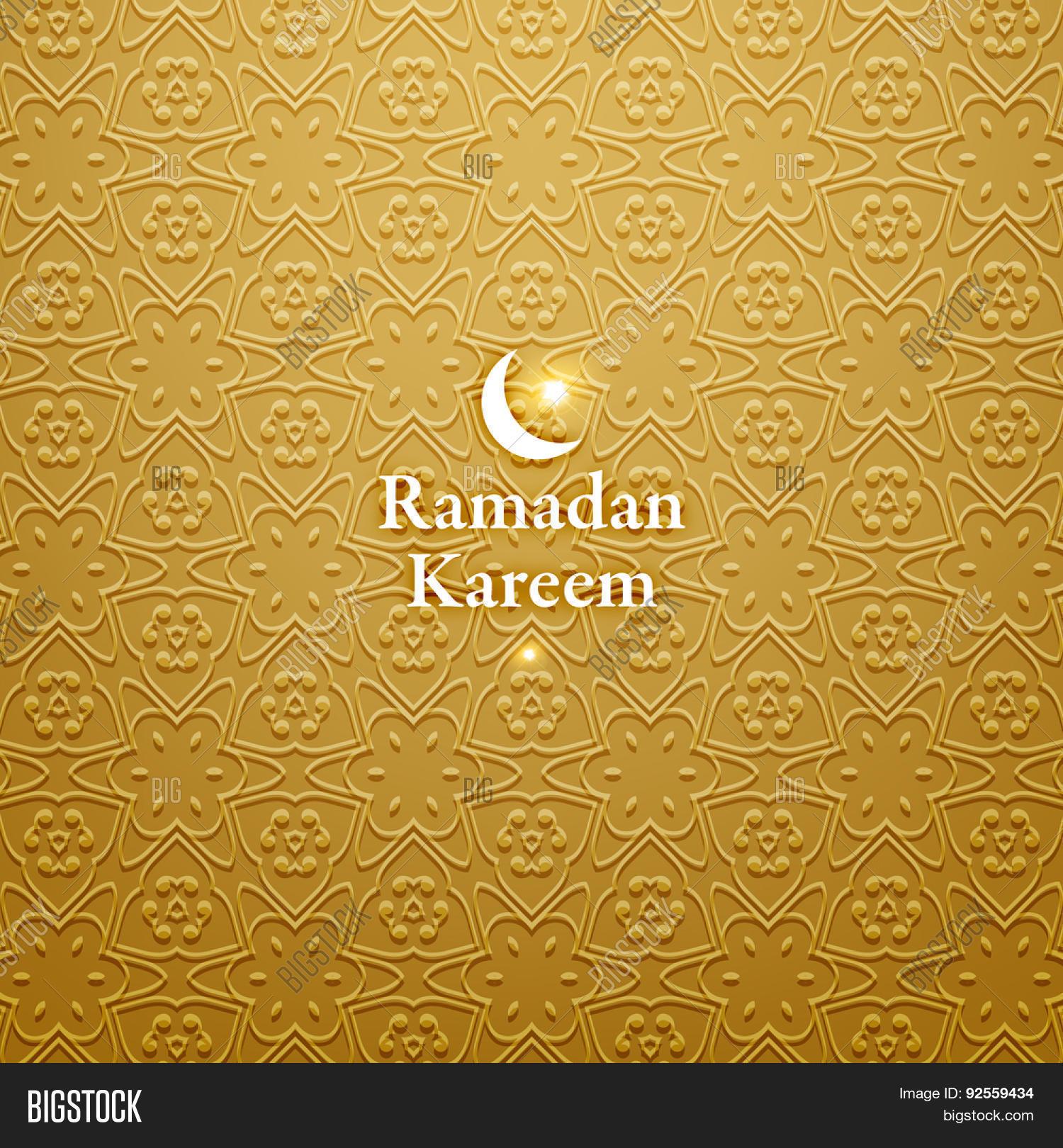 Ramadan kareem ramadan greeting vector photo bigstock ramadan greeting card background muslim seamless pattern holiday design kristyandbryce Choice Image