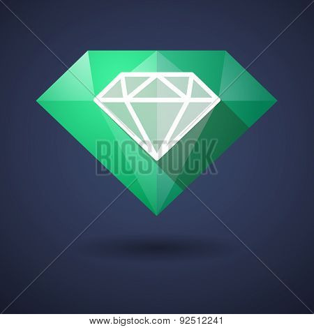 Diamond Icon With Another Diamond