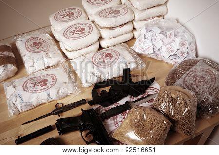 30 kilos of drugs