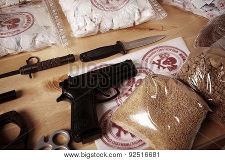 Seized contraband