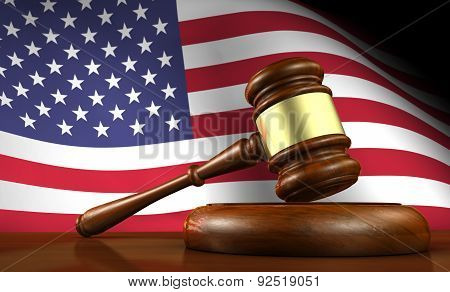 Us Law And American Justice Concept